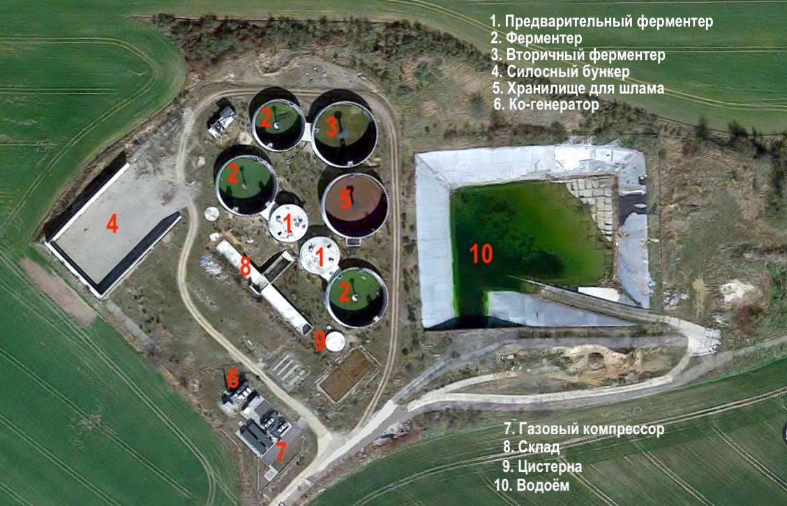 Объект № В 38. Установка по производству биогаза Германия. Новостройка. Ввод в эксплуатацию: II-III квартал 2020 г.  Комплектная стоимость с участком земли: € 14,5 млн.